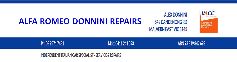 alfa romeo specialist melbourne 03 95717431 alfa romeo donnini repairs